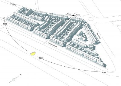 Herontwikkeling De Rooie Buurt in Katwijk - 3D Algemeen Bezonning