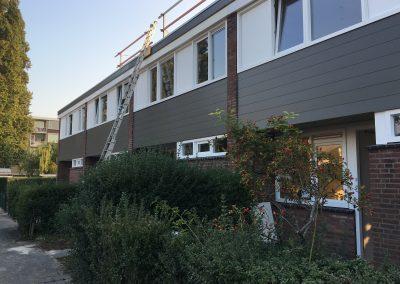 Groot onderhoud Sibeliusstraat in Leiden - gevel 1e opgeleverde woningen